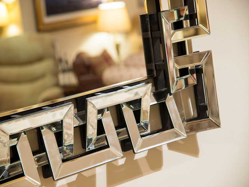 Aztec-style-silvered-mirror
