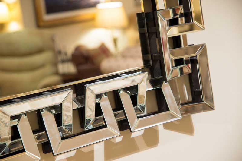 Silver Geometric Mirror
