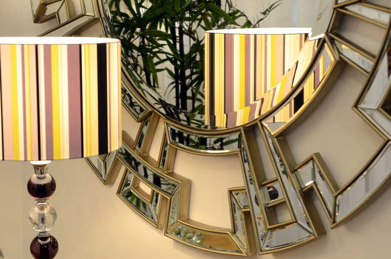 Circular Mirror, Geometric Design