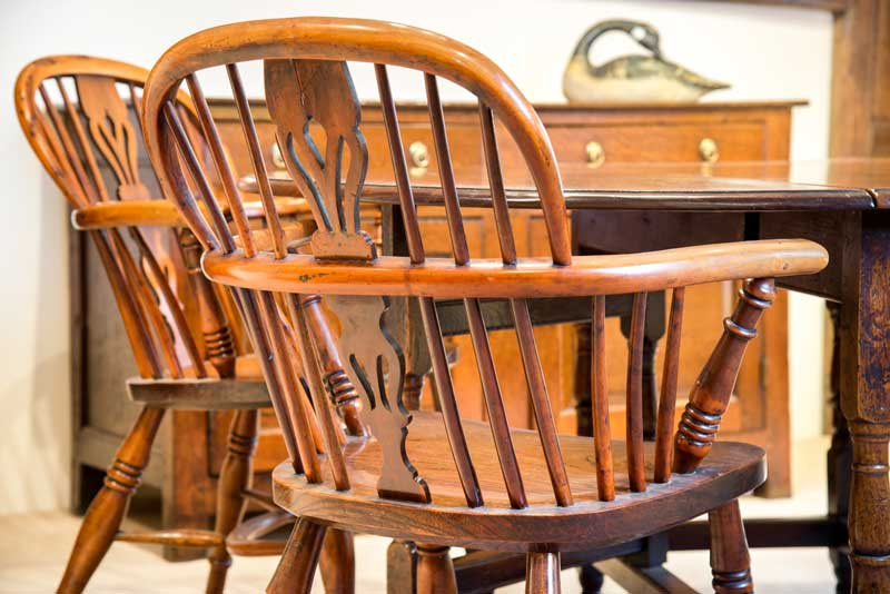 Antiques Yew Windsor Chair
