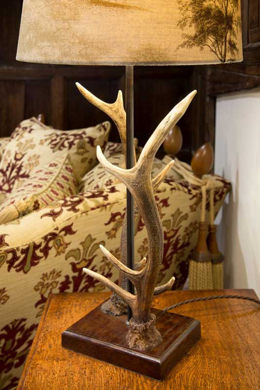 Antler lamp, resin, table lamp.
