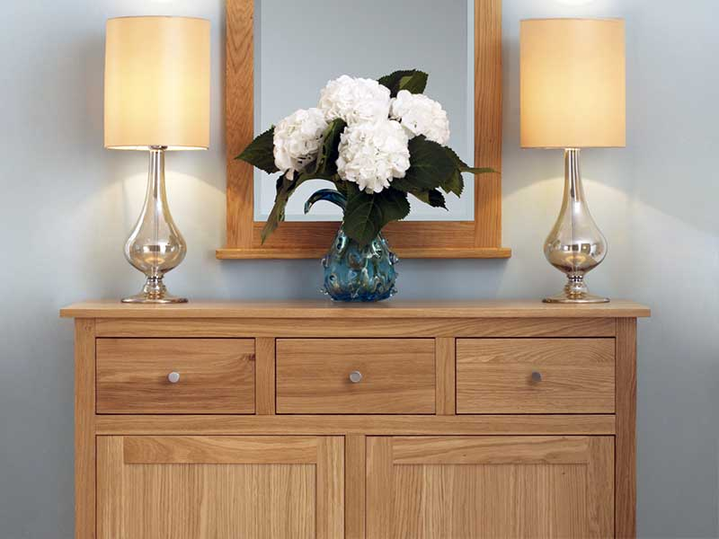 Solid Oak Sideboard In The Nimbus Range.