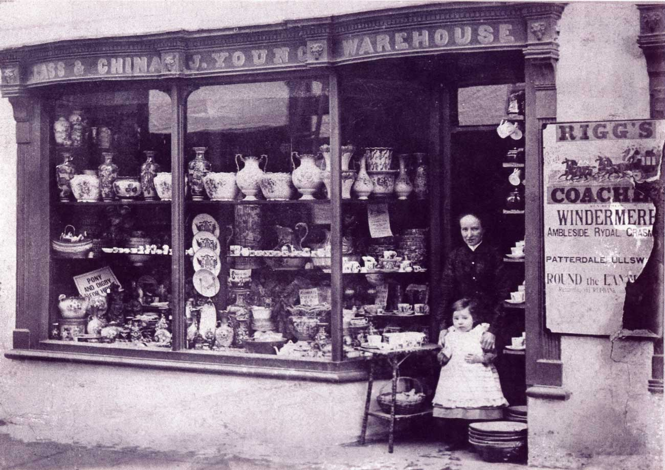 Emma At John Young's Shop In The 1890's