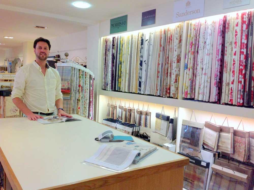 Peter Duggan With Curtain Sample