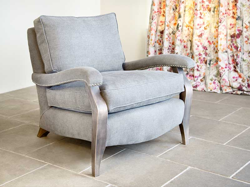 Very Comfortable Arm Chair, Feather Cushions,