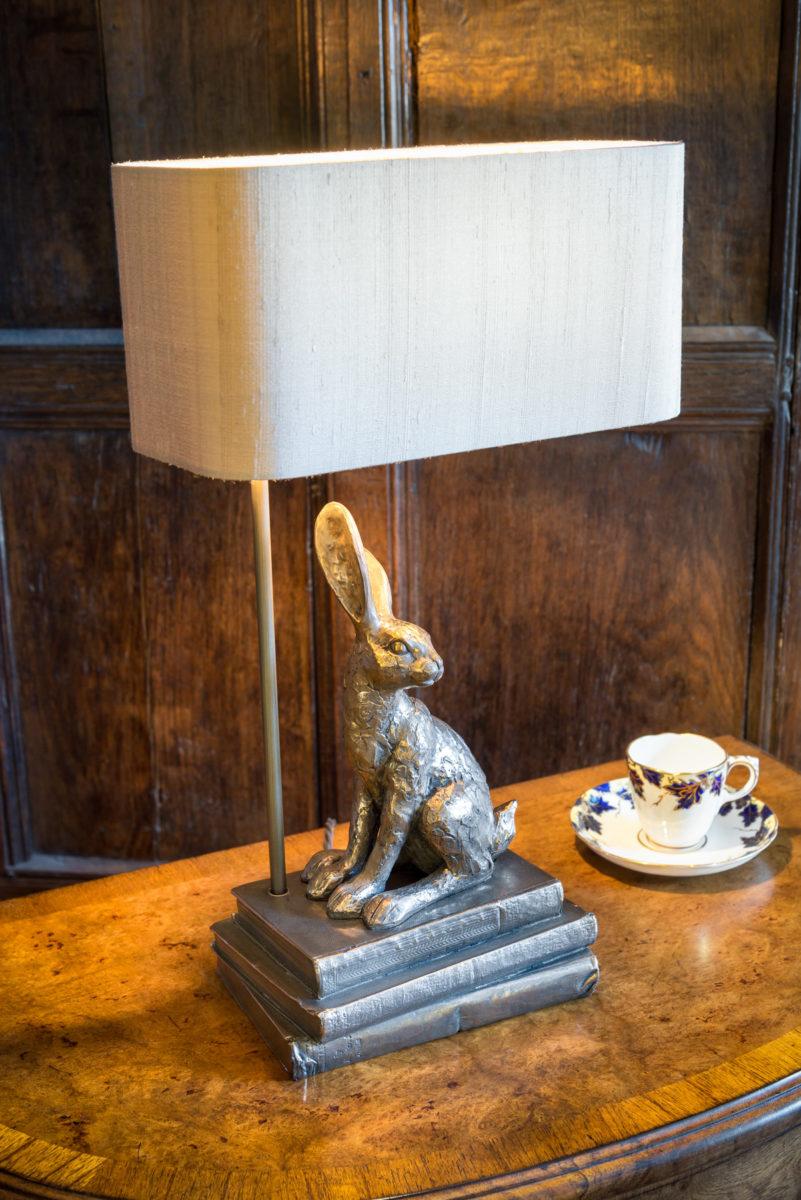 Hopper lamp, bronze,