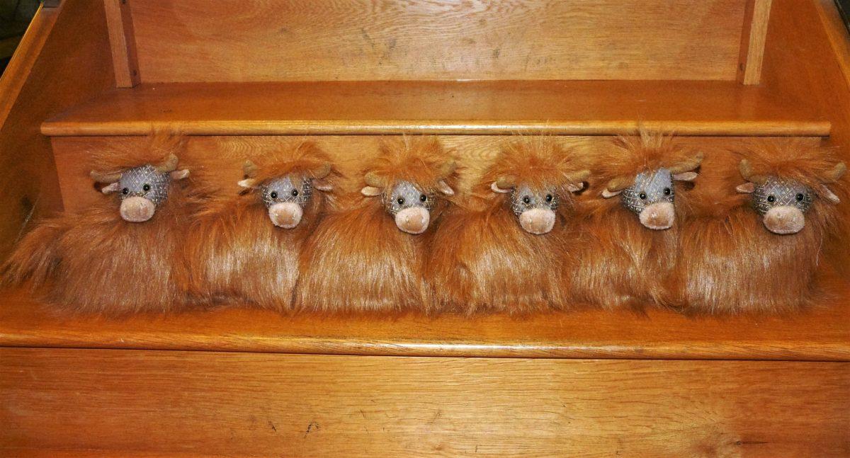 doorstop, dora, draught, excluder, highland, cow