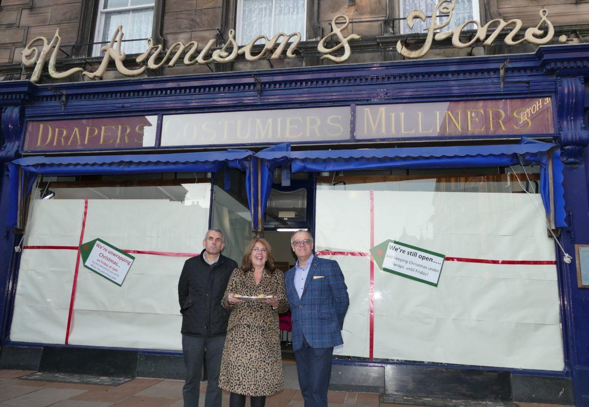 John Youngs Uncveils The Arnisons Christmas Window